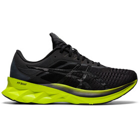 asics Novablast Shoes Men, black/lime zest
